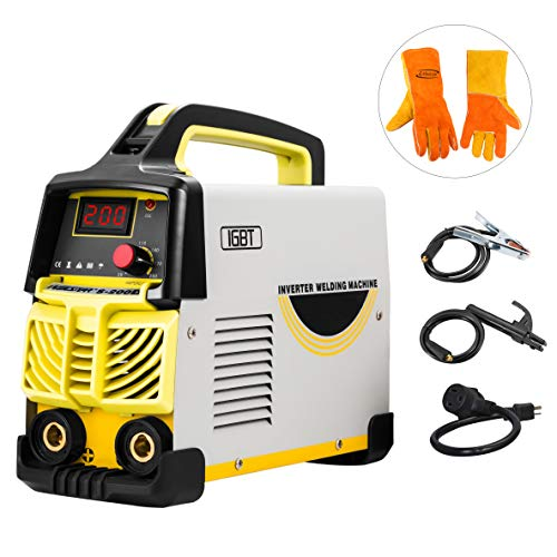 Arc Welder Dual Voltage 110V-220V IGBT Inverter DC Welding Machine 200A High...