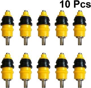 Yardwe 10PCS Automatic Chicken Water Nipple Drinkers, Poultry Hen Duck Screw Style Nippler Waterer (Yellow)
