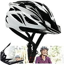 Adults Bike Helmet - Bicycle Helmet Mountain Bike Helmet for Adults Men Women,Cycle Helmet with Detachable Visor, MTB Road Helmets Street Helmet,Adjustable Size Recreational Helmets,White ?22.4-24 in