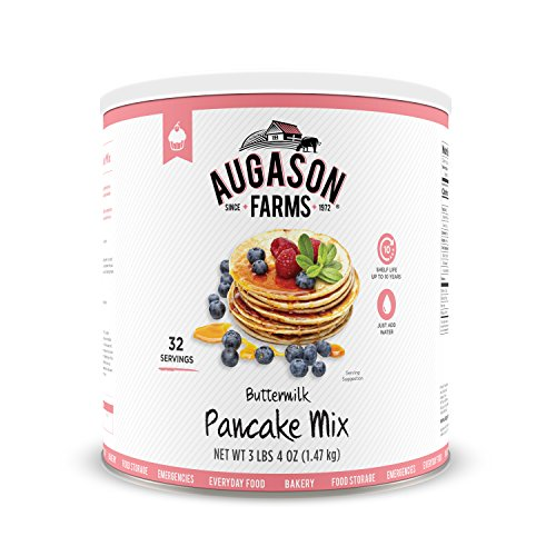 Augason Farms Buttermilk Pancake Mix (3 lbs 4 oz No. 10 Can)  $7.32 at Amazon