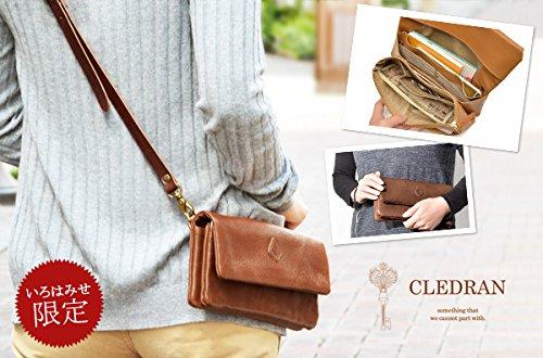 [クレドラン]CLEDRANエクラECRAお財布ポシェットショルダーバッグCL-2456グリーン/81-3343