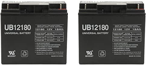 Universal Power Group 12V 18AH Smart-UPS 1400 Replacement Battery (Reuse Exisitng Connectors) - 2 Pack