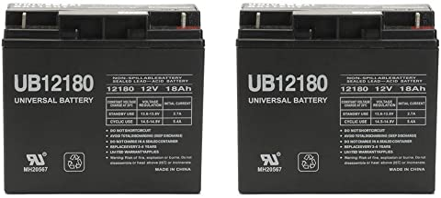 Universal Power Group 12V 18AH SLA Replacement Battery for Liebert AP-130/AP23 3kVA UPS - 2 Pack