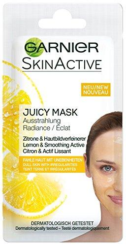 Garnier - Skin Active Rescue Mask, Mascarilla Facial Iluminadora con Limón y Activo Alisador