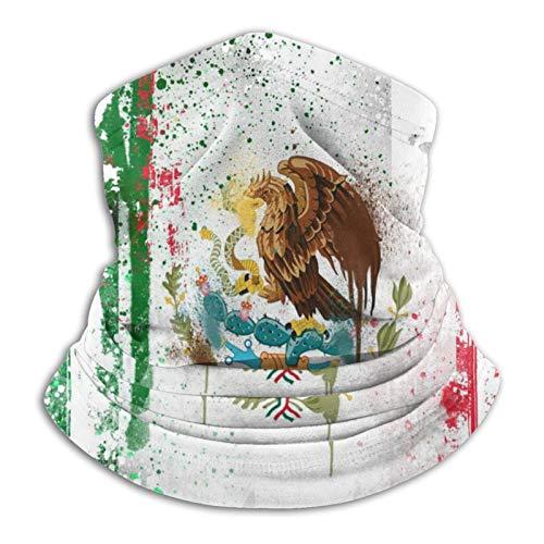 Bufanda de microfibra para el cuello de la bandera mexicana fresca para clima frío invierno deportes al aire libre bandana pasamontañas unisex