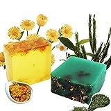 Teebaum & Calendula Naturseife - Bio Feste Seife Vegan Handgemachtes Seife, Reinige Gesicht und...