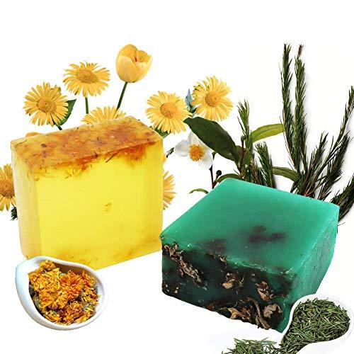 Teebaum & Calendula Naturseife - Bio Feste Seife Vegan Handgemachtes Seife, Reinige Gesicht und Körper für Damen Herren alle Hauttypen, Für Akne, Ekzem, Gesichtsreinigung Körperreiniger