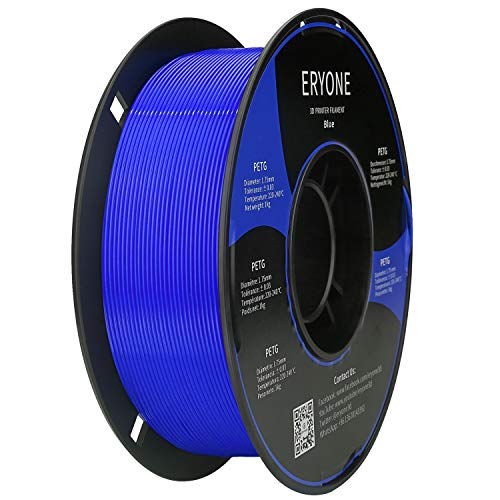 ERYONE PETG Filament 1,75 ± 0,03 mm Hochfestes 3D-Druckerfilament, 1 kg Spule (2,2 lbs) Blue