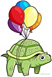 LA STICKERS Turtle - Balloon Fun - Sticker Graphic - Auto, Wall, Laptop, Cell, Truck Sticker for Windows, Cars, Trucks