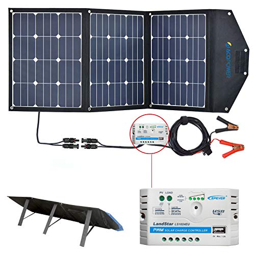 ACOPOWER 105W 12V Foldable and Portable Solar Panel Kit with 10A Charge...