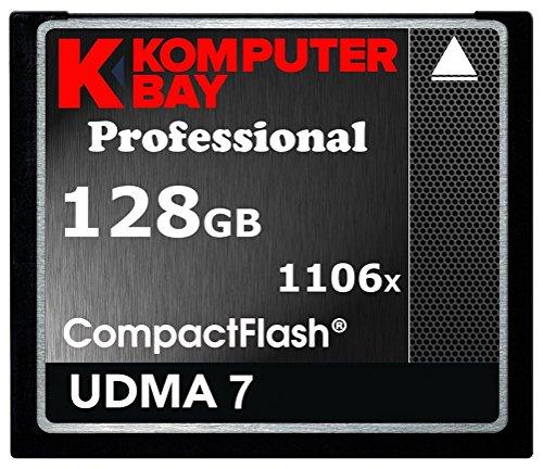 1106x Professionale 128 GB CF Scheda di Memoria Komputerbay 167MB/s Velocità di Trasferimento Veloce DSLR Fotocamera Digitale Riprese di Archiviazione Compact Flash