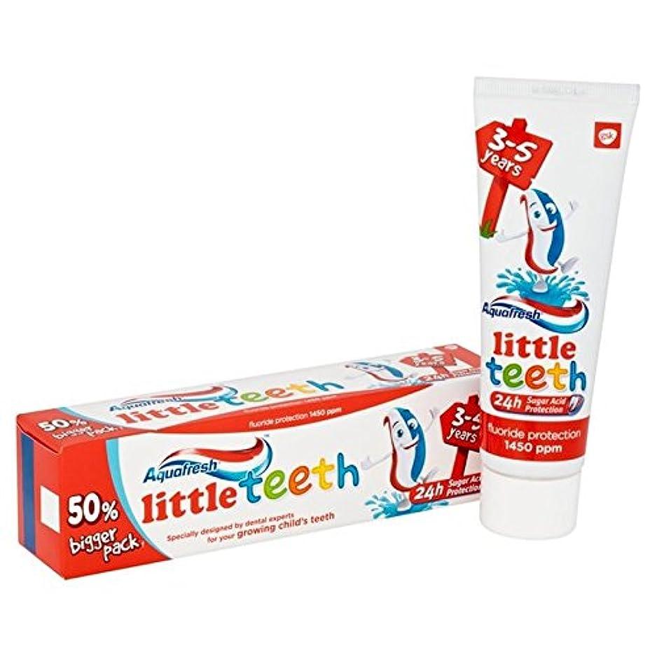 ショッキングタールキウイアクアフレッシュ少し歯歯磨き粉75ミリリットル x2 - Aquafresh Little Teeth Toothpaste 75ml (Pack of 2) [並行輸入品]