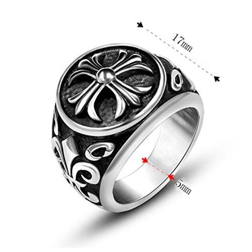 『ZAKAKA 指輪 メンズ リング ファッション アクセサリー (銀色, 24)』の2枚目の画像