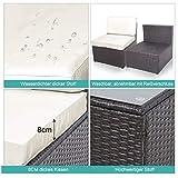 Polyratten Lounge 5 Teilig Sitzgruppe Gartenmöbel Garnitur für 3-4 Personen - 7