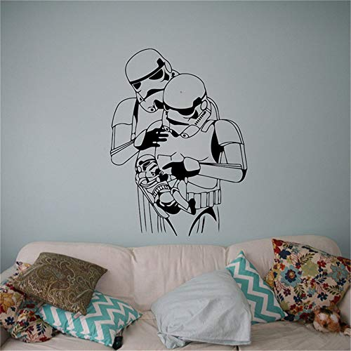 wandaufkleber 3d Wandtattoo Wohnzimmer Stormtrooper Baby Familie Wandtattoo Star Wars Vinyl Aufkleber Galactic Empire Soldat Home Interior Decor