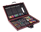 ZagGit 83 Piece Deluxe Art Creativity Set in Wooden Case