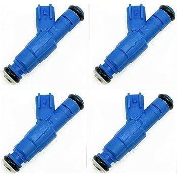 Set of 4 Delphi Fuel Injectors with Retainer for Chevrolet Cobalt Pontiac G5 L4