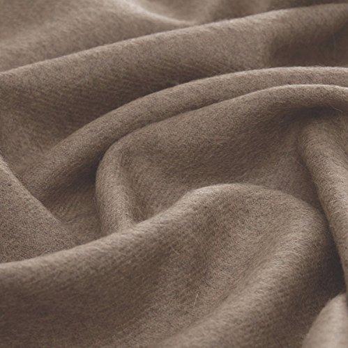 Lorenzo Cana Luxus Alpakadecke aus 100% Alpaka Wolle vom Baby - Alpaka flauschig weich Decke Wohndecke Sofadecke Tagesdecke Kuscheldecke Hellbraun 96083