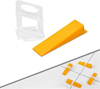 Tile Leveling System 1/16 Inch (2mm) Tile Leveler Spacers – 300 Spacers/Clips And..