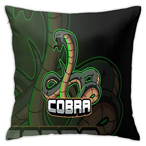 longdai Snake Cobra Esport - Fundas de cojín para sofá, dormitorio, sala de estar, microfibra, 45 x 45 cm