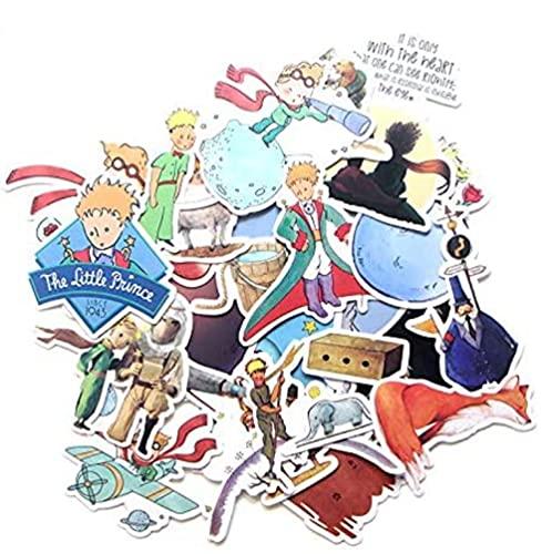 MDGCYDR Pegatina para Coche, Pegatina Animada del Principito, Pegatina, Pegatina De Dibujos Animados De Anime, Guitarra, Monopatín, Pegatina para Doodle, Pegatina para Coche, 23 Piezas