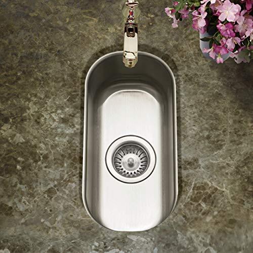 Houzer CS-1105-1 Club Series Undermount Stainless Steel Compact Bar/Prep Sink