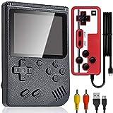 Tanouve Consola de juegos portátil, consola retro FC del juego con 400 juegos clásicos FC, soporte conexiones de TV, 3,0 pulgadas, batería recargable de 800 mAh para niños y adultos
