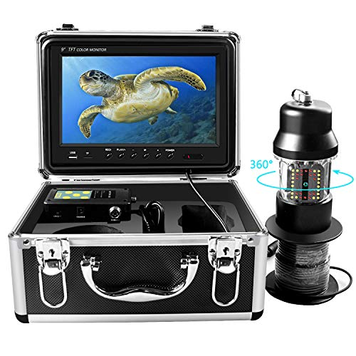 Underwater Ice Fishing Camera 360° Rotating View Waterproof Video...