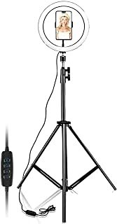 """10"""" Selfie Ring Light with 210CM Tripod Stand Including Phone Holder - Ring Light for iPhone - Android, Light Stand for Li..."""