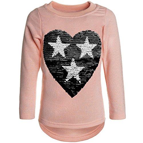 BEZLIT Mädchen Pullover Pulli Wende-Pailletten Sweatshirt 21517 Orange Größe 164