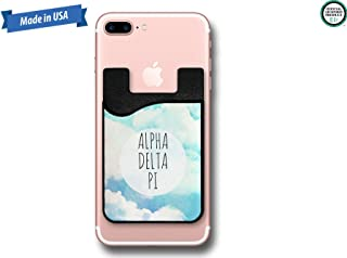 Alpha Delta Pi Watercolor Blue Sky with Clouds Cell Phone Caddy Sticker Wallet (PC1115)