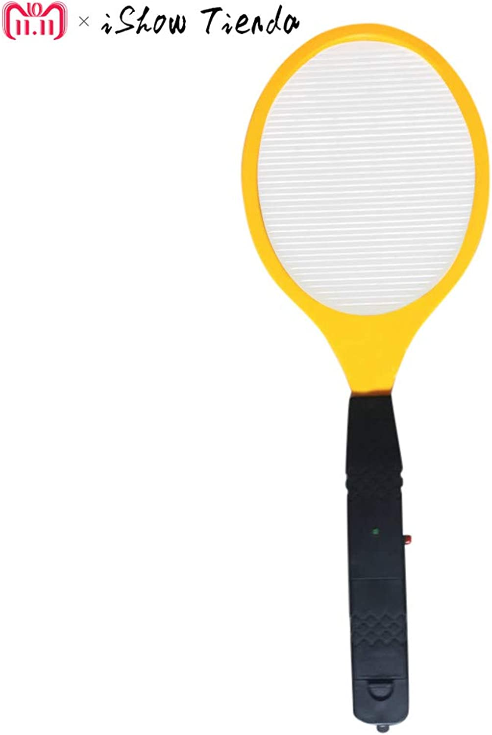 Shoppy Star Operated Hand Racket Electric Mosquito Swatter Anti Mosquito Insect Home Garden Pest Bug Fly Mosquito Zapper Swatter Killer  Yellow