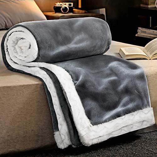 RATEL Kuscheldecke Flauschige Decke 150 × 200cm grau, 460GSM Upgrade Flanell Weiche sofadecke, Fleecedecke, Mikrofaser Wohndecke - Pflegeleicht - Warm, Gemütlich, Langlebig