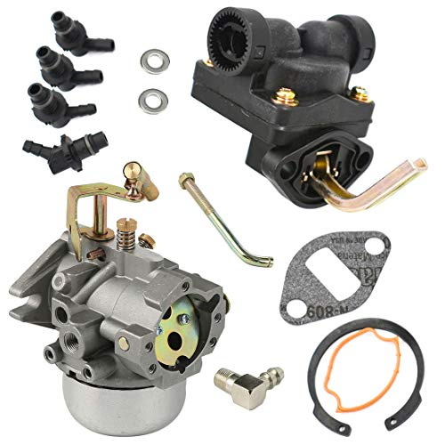 Atoparts New Carburetor with Fuel Pump for Kohler K321 K341 Cast Iron 14 hp 16 hp 14HP 16HP Engine Carb