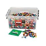 PLUS PLUS Plus-Plus - Open Play Set - 3,600 Piece in Storage Tub - Basic Color Mix - Construction Building Stem Toy, Interlocking Mini Puzzle Blocks for Kids, Assorted, 100