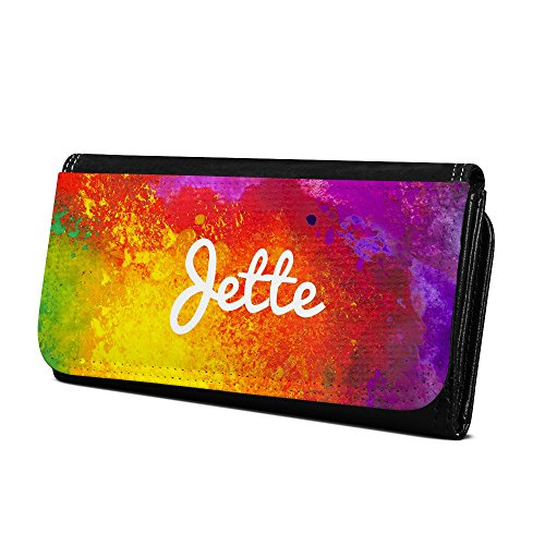 Geldbörse mit Namen Jette - Design Color Paint - Brieftasche, Geldbeutel, Portemonnaie, personalisiert für Damen und Herren