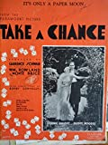 """sheet music cover """"It's Only a Paper Moon"""" from movie Take a Chance"""
