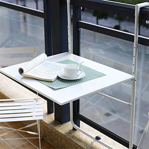 RUIXFRU Mesa de Mosaico Colgante de balcón Ajustable, parapeto de Cubierta, Mesa...