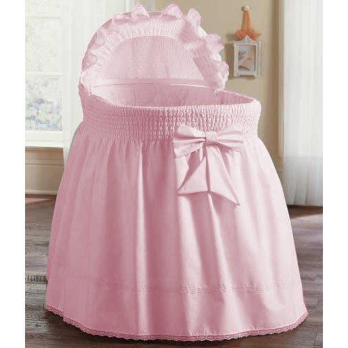 aBaby Smocked Bassinet Skirt, Pink, Large