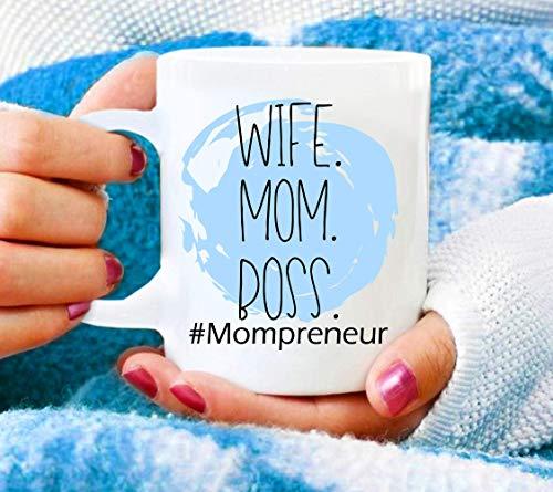 N\A Esposa Mamá Jefe Taza de café Regalo de mamá emprendedor Regalo para mamá Regalo para Esposa Mamá Taza Objetivo