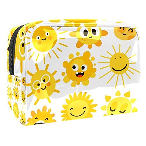 Bolsa de maquillaje portátil con cremallera bolsa de aseo de viaje para mujeres práctico almacenamiento cosmético bolsa de dibujos animados Suns