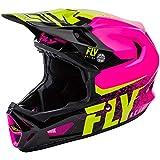 Fly Racing - Casco Werx MIPS negro y rosa – Unicolor – S – Unicolor