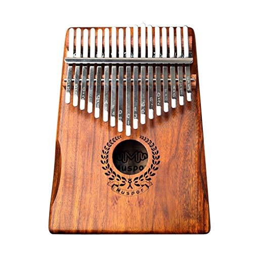 Yihaifu Holz Kalimba Tragbare 17-Tasten Piano Tuner HMER Tragetasche Song Book-Musik-Instrument Kit