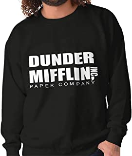 Brisco Brands Dunder Paper Company Mifflin Office TV Show Crewneck Sweatshirt