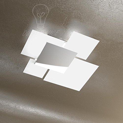 Plafondlamp plafondlamp wandlamp Top Light 1088/70-BI glas EXTRACHIARI DESIGN MODERNO keuken badkamer badkamer woonkamer woonkamer woonkamer
