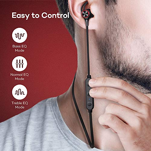 Wireless Headphones, Upgraded Boltune Bluetooth 5.0 aptX HD CVC 8.0 Noise Cancellation IPX7 Waterproof 16Hrs Playtime Earbuds, 3EQ Settings with Magnetic Connection Earphones for Running Built-in Mic 2