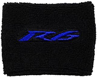 Yamaha R6 Black/Blue Brake Reservoir Cover by MotoSocks Fits YZF-R6, R6