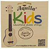 Aquila AQ-138 New Nylgut KIDS Soprano Ukulele Strings High G & GCEA Set