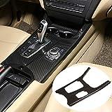 DAETNG Accesorios Decorativos para el Interior del automóvil, Perilla de Aire Acondicionado de Fibra de Carbono Marco Consola Central Panel Trim Cover Sticker Fit para BMW X3 F25 X4 F26 2011-2017