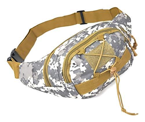 A ACE MONKEY Riñonera Camuflaje Militar Montaña,Caza,Pesca,Actividades Aire Libre. (Black Water)